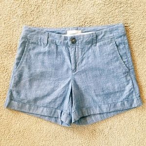 Banana Republic Chambray Cuffed Shorts